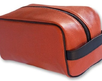 Basketball Toiletry Bag -made from genuine basketball material