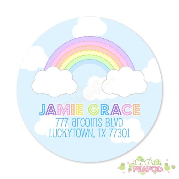 rainbow address labels