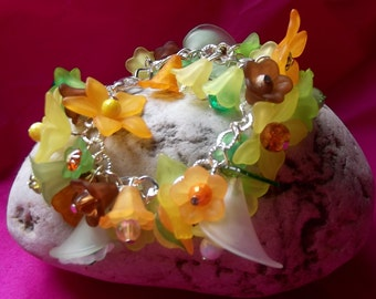 lovely woodland fairies  plastic bracelets