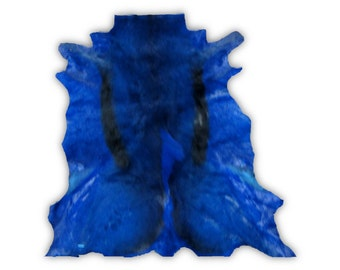 Dyed Dark Blue African Springbok Skin Large and Stunning Gorgeous