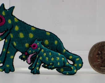 Spotted Dog with Puppy Embroidered Applique