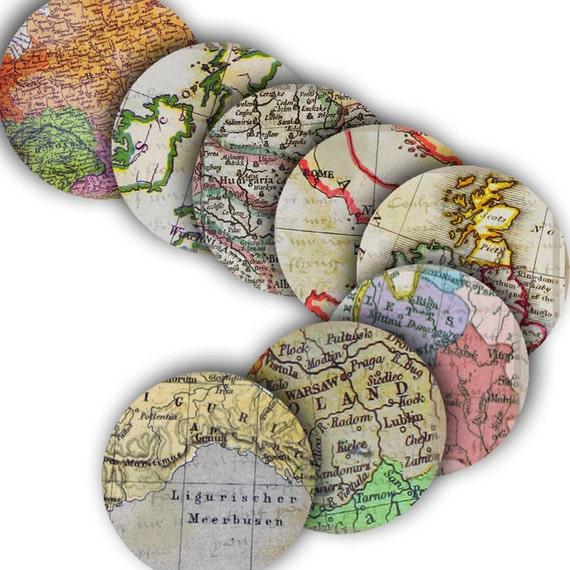 Vintage European Map Vintage European Maps With