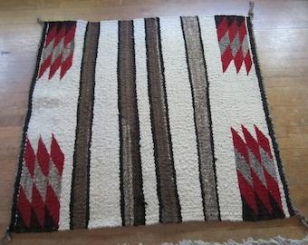 Authentic 1950's Navajo Wool Saddle Blanket