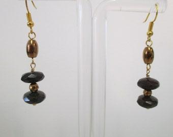 Quartzite and hematite earrings