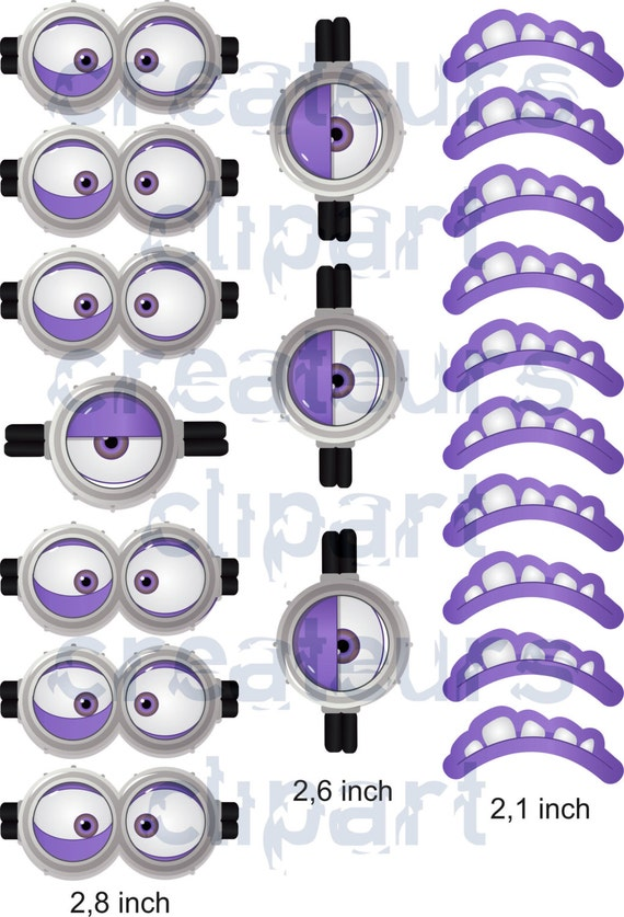 instant download evil minion goggles mouth. Black Bedroom Furniture Sets. Home Design Ideas