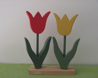 Hand Painted Tulips and stems