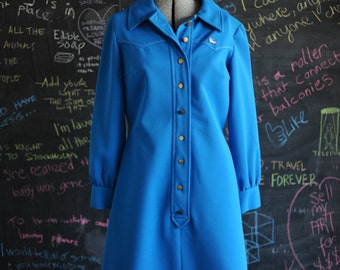 Blue Chemise Lacoste Shirt Dress