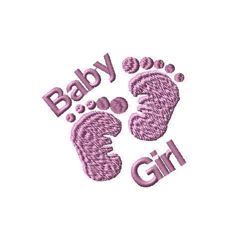 Baby Girl Feet Machine Embroidery Design