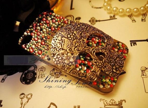 diy deco kit 3d bling bling skull rhinestones by bijoodjewelry
