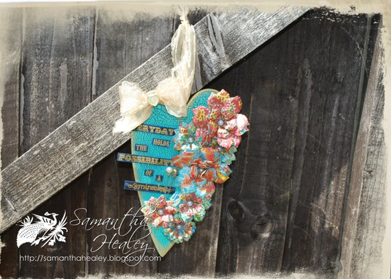 Crackled Hanging Heart - 'Possibility of a Miracle