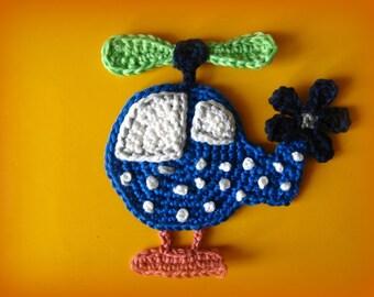 Helicopter Crochet Appliqué Pattern