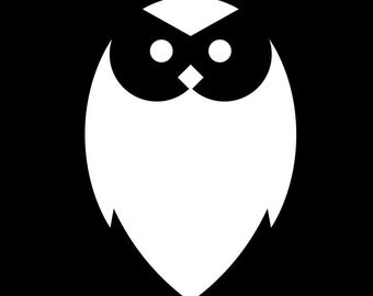 034 Owl Decal