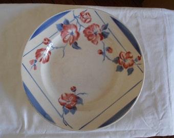 A French vintage serving platter, Digoin Sarreguemines, 1940's