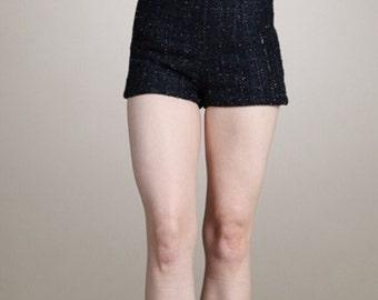High Waist Tweed Shorts