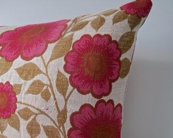 Raspberry Red Floral Cushion Cover -Madeline
