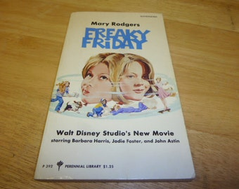 Freaky Friday VINTAGE Book 1977 Jodie Foster