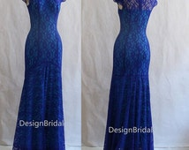 Royal Blue Lace Dress,Mother of the Bride Lace Dresses,Elegant Formal Gowns,Evening Gowns Mother of the Groom,Red Carpet Lace Dresses/Gowns
