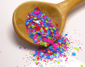 Neon Blast Solvent Resistant Glitter Mix