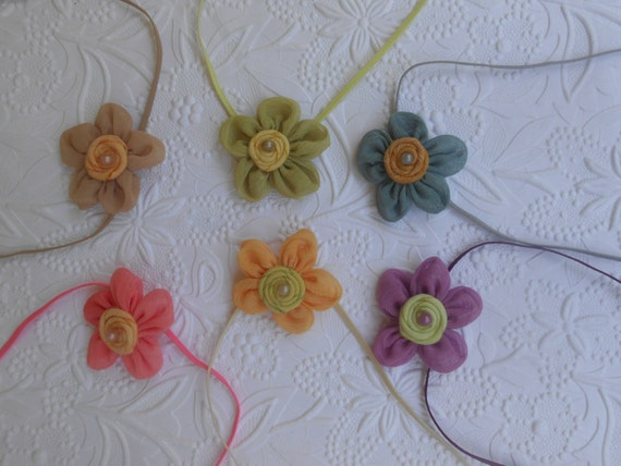 Set of 6, Small flowers Baby Headband, Newborn Headband,  Infant Headband,Baby Headband, Headband Baby,Baby Headband