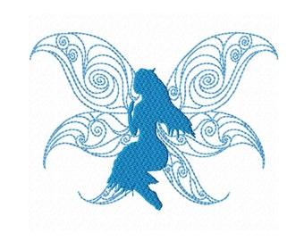 Fill Machine Embroidery DESIGN NO. 186.....Fairy Silhouette 7