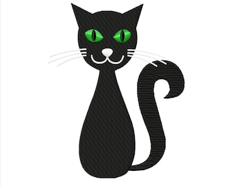 Black Cat...Instant Download...Pattern Fill Machine Embroidery DESIGN NO. 237