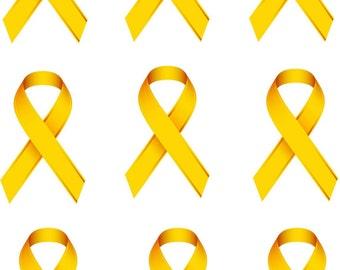 Childhood Cancer Awareness Ribbon Iron on Transfer