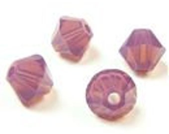 Swarovski 4mm Bicone - Cyclamen Opal - Pack 20