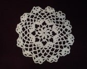 Handmade Crocheted Doily, Home decor, Handmade doily, Crochet doily, Round doily,Table topper, 7 inch doily, Lace crochet, grandma gift idea