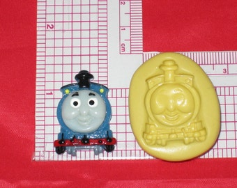 Thomas The Train 2D Push Mold Food Safe Silicone A604 Polymer Clay Gumpaste Wax