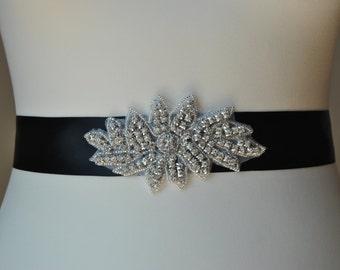 Rhinestone Sash, Bridal Sash,Wedding Dress Sash Belt, Rhinestone Bridal Bridesmaid Flower girl Sash Belt, Wedding dress sash