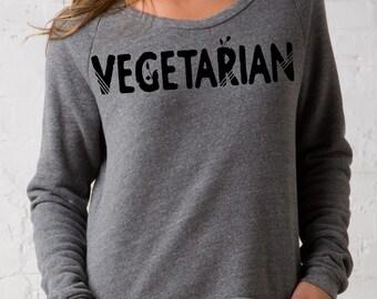 Vegetarian Eco-Fleece Dash Pullover Sweatshirt – Vegetarian
