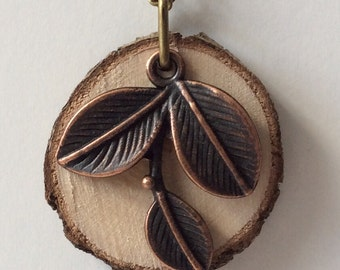 Essential Oil Diffuser Necklace Made with Untreated Wood -- FREE SHIPPING