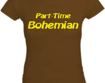 Part Time Bohemian shirt for women, Round neck, Short sleeves, Cotton shirt, Womenz shirt, Brown shirt