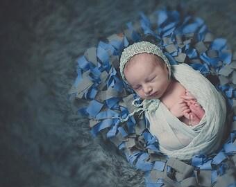 Made to Order - Shag Rag Rug , basket stuffer - newborn photography props