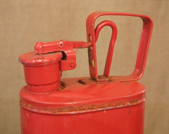 Vintage Red Metal Gas Can