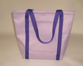Ladies Tote,Lilac Purple Knitting Bag,Shopping Bag Holds it all Made in U.S.A.