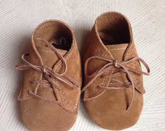 Leather Baby Oxfords