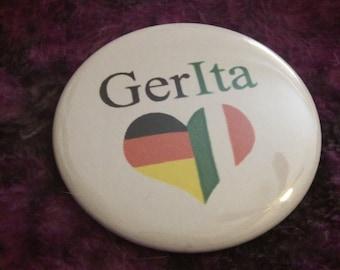 Hetalia GerIta 2 1/4 pin back button
