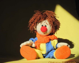 Crochet Doll little Clown Knitted Soft Toy