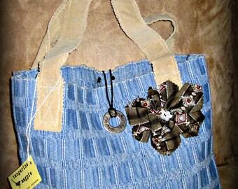 Upcycled Boho Market Bag #4