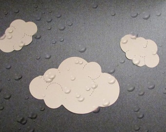 Cloud Die Cuts, Hand Punched from cardstock, (24 total).
