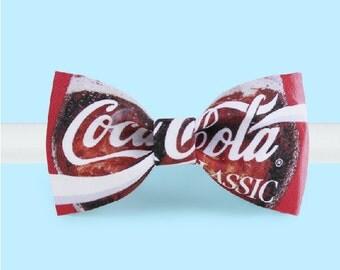 Coca Cola Bow Tie- Red Bowtie -Classic Bowtie - Adjustable Bowtie