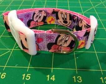 Disney minnie mouse dog collar