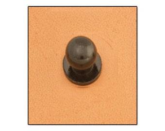 Button Stud 8mm Screwback Black 11310-17
