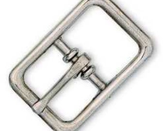 """Bridle Buckle 1"""" (2.5 cm) Nickel Plated 1512-00 by Tandy Leather"""