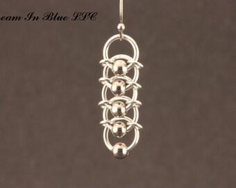 Beaded Caterpillar Earrings