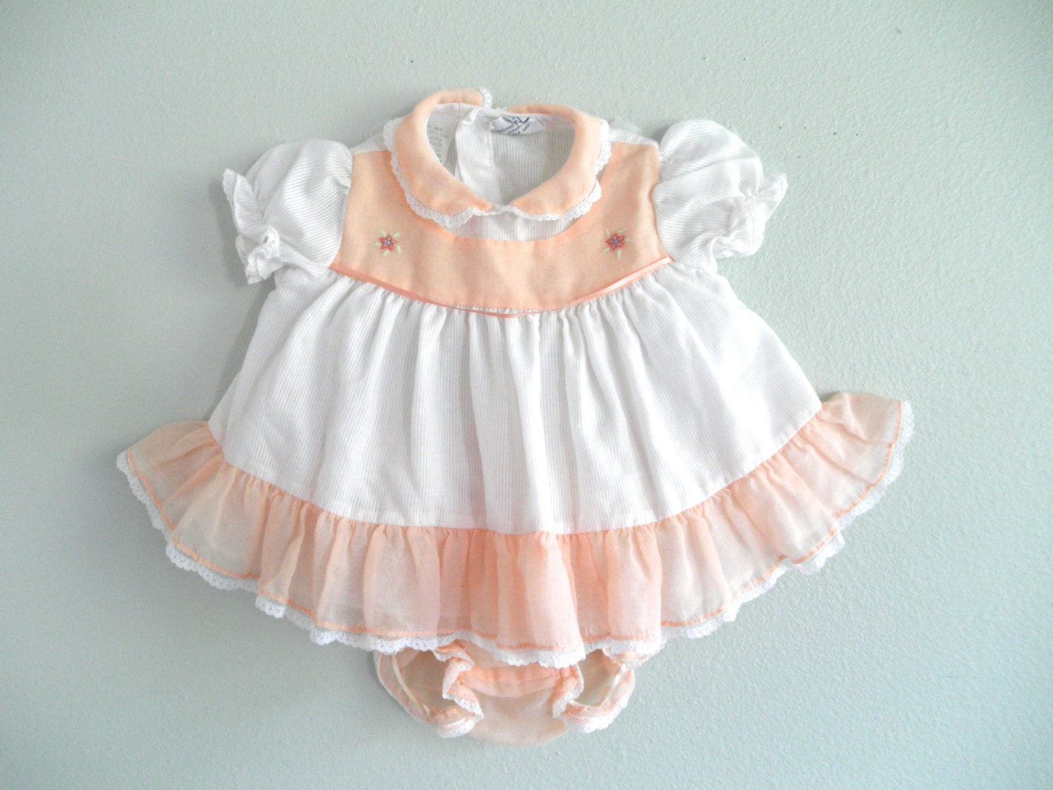 Baby Girl Dress Peach Infant Dress Newborn Clothes Baby Girl