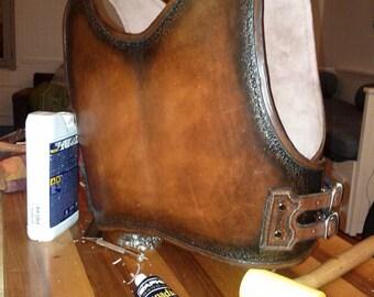 Medieval plastron leather man