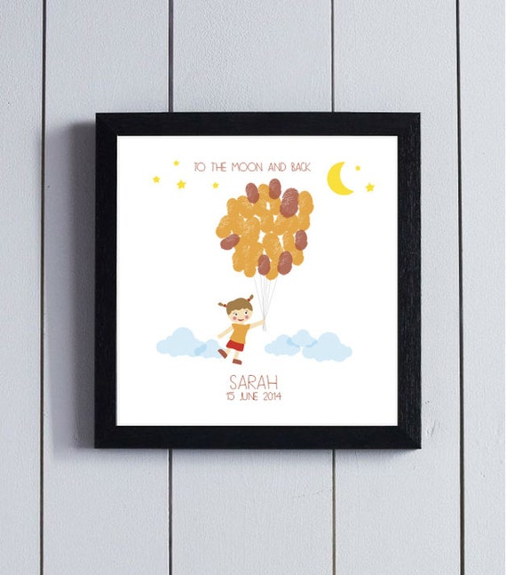 Baby Shower Guestbook First Birthday Guest Book Thumbprint