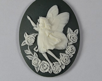 Fairy  Cameo Flexible Mold Mould For Resin Polymer Clay Chocolate Food Safe Silicone no.5